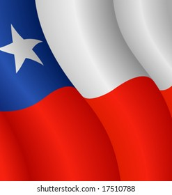 Vector illustration of the flag of Chile