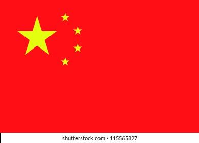 Illustration vectorielle du drapeau de la Chine