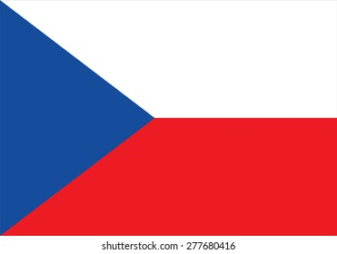 Vector illustration of flag from Czech Republic