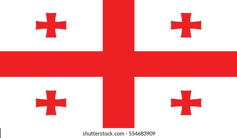 Vector Illustration , Flag of Georgia