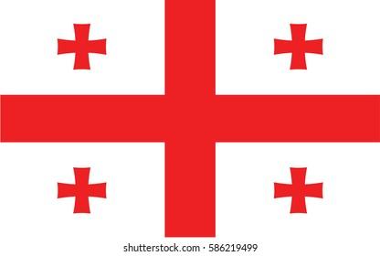 vector illustration Flag of Georgia