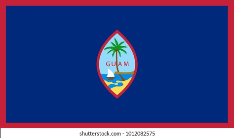Vector Illustration Flag of Guam (U.S.) for continue, Flag Of Guam (U.S.) Isolated On White Background.