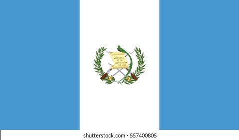Vector Illustration , Flag of Guatemala