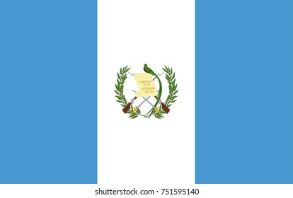 Vector Illustration Flag of Guatemala for continue.