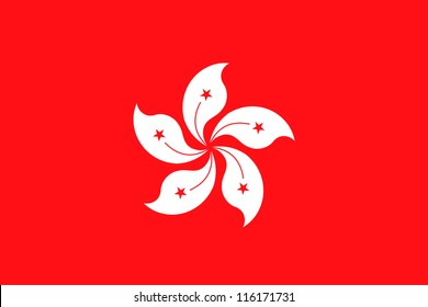 Vector Illustration of the flag of Hong Kong