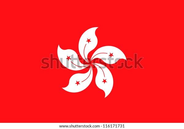 Vector Illustration of the flag of Hong Kong