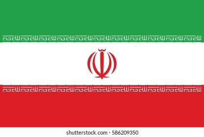 vector illustration Flag of Iran
