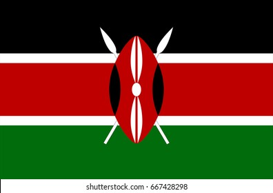 Vector Illustration Flag of Kenya for continue.