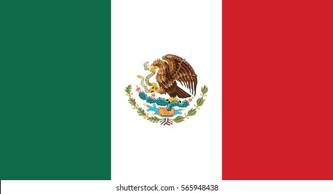Vector Illustration , Flag of Mexico