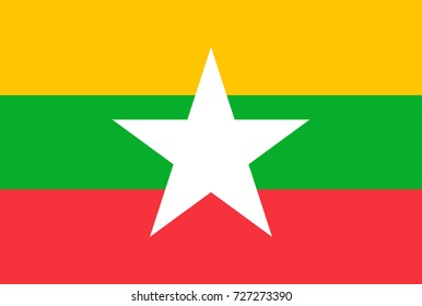Vector Illustration Flag of Myanmar for continue.