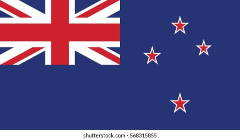 Vector Illustration , Flag of New Zealand