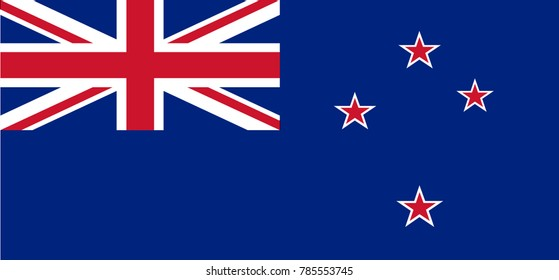 Vector Illustration Flag of New Zealand for continue, Flag Of New Zealand Isolated On White Background.