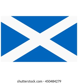 Vector illustration flag of Scotland icon. Rectangle national flag of Scotland. Scotland flag button