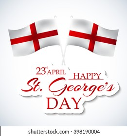 Vector illustration of a Flag for St George's Day.