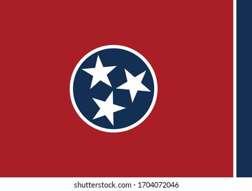 vector illustration of Flag of the state of Tennessee