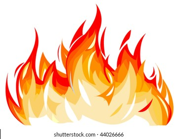 Vector illustration of flames
