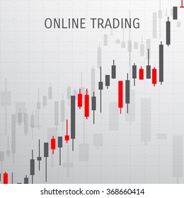 Vector illustration - flat background - market trade - trading platform and account - moneymaking - business - market analysis and investing
