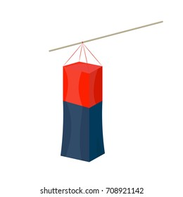 Vector illustration in a flat cartoon style: Cheongsachorong or square Korean traditional lantern isolated. This lantern or lamp was used in Korean traditional wedding ceremonies.