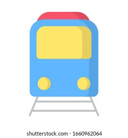 vector illustration flat design train icon logo