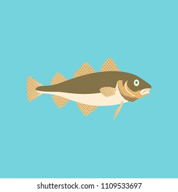 Vector illustration in flat style cod
