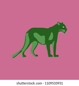 Vector illustration in flat style panther
