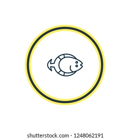 Vector illustration of flatfish icon line. Beautiful naval element also can be used as aquatic icon element.
