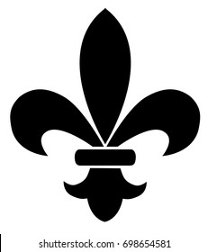 vector illustration of fleur de lis flower