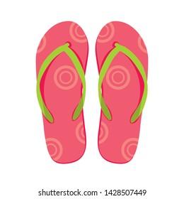 Vector illustration of flip flops