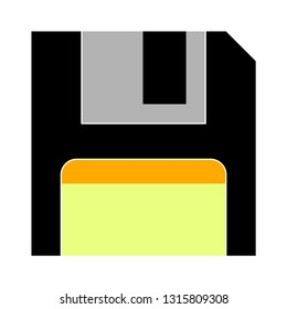 "Vector illustration of floppy disk & diskette. information save ""floppy disk"" computer information icon"