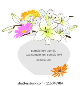 vector illustration: floral background