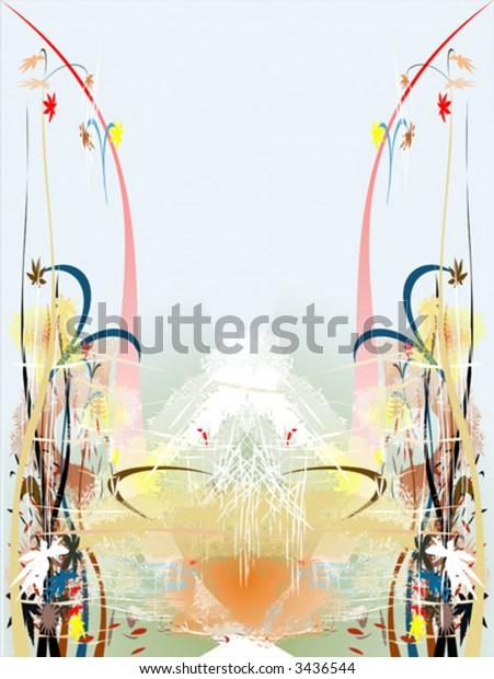 Vector illustration of floral decorative ornament backgrounds