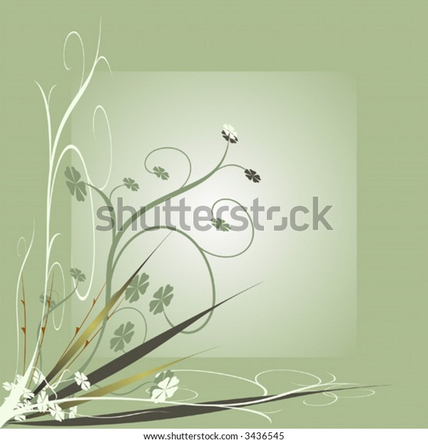 Vector illustration of floral decorative ornament backgrounds