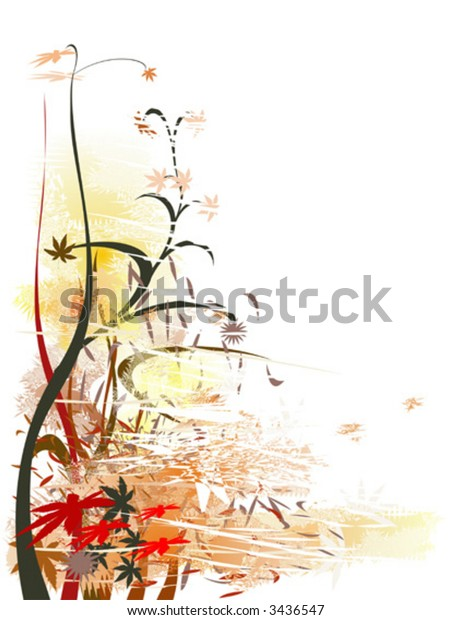 Vector illustration of floral decorative ornament