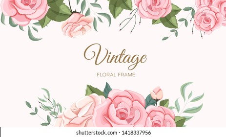 Vector illustration of a floral design in spring for Wedding, anniversary, birthday and party.