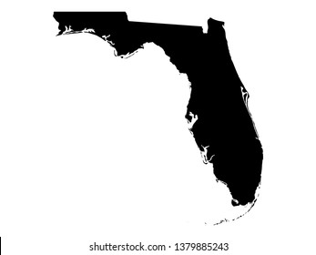 vector illustration of Florida map