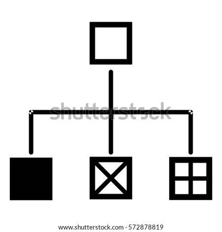 Vector Illustration Flow Chart Icon Stock Vector Royalty Free