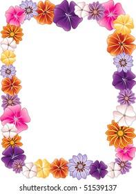 Vector illustration of a Flower border.