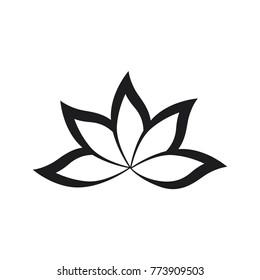 Vector illustration of  Flower Icon on white background