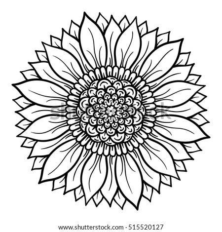 flower mandala coloring pages Vector Illustration Flower Mandala Coloring Page Stock Vector  flower mandala coloring pages