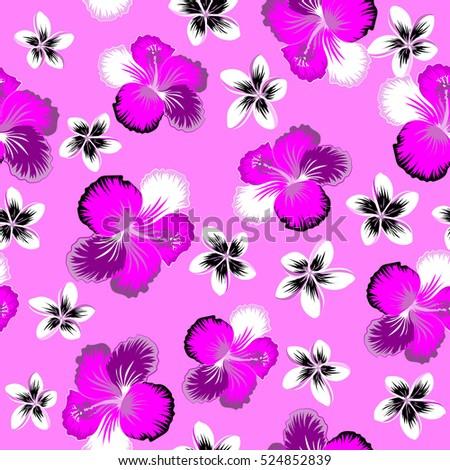 Vector Illustration Vector Flower Illustration Seamless Stock Vector