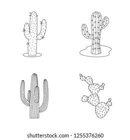 Vector illustration of flower and summer logo. Set of flower and garden stock vector illustration.