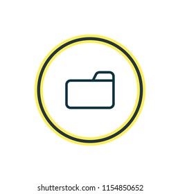 Vector illustration of folder icon line. Beautiful storage element also can be used as dossier icon element.