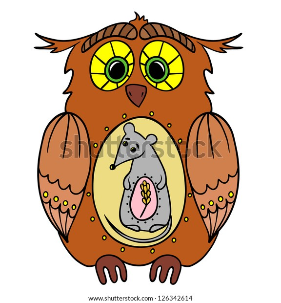 Vector Illustration Food Chain Forest Owl Stock Vector ...