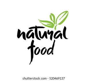 Vector illustration, food design. Handlettering for restaurant, cafe menu. Elements for labels, logos, badges, stickers or icons. Calligraphic and typographic collection. Design brush, brush lettering