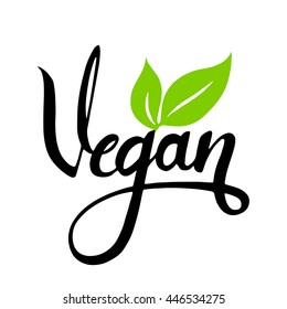 Vector illustration, food design. Handwritten lettering for restaurant, vegan menu,  elements for labels, logos, badges, stickers or icons. Calligraphic and typographic collection. Isolated on white