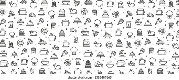 VECTOR ILLUSTRATION OF FOOD AND DRINK ICON CONCEPT