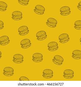 vector illustration, food pattern