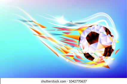 Vector illustration. football 2018 championship cup background soccer