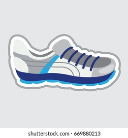 Vector illustration a football boot isolated on grey background
