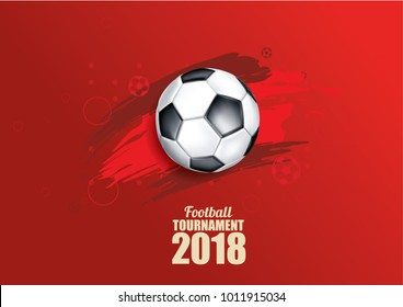 vector illustration of a football cup 2018. design of a stylish background for the soccer championship. vector realistic 3d ball. element for design cards, invitations, gift cards, flyers, brochures